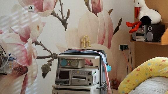 Geburtszimmer im Kreißsaal des Krankenhauses in Lichtenstein Sachsen