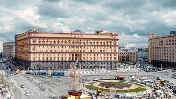 Der Lubjankaplatz in Moskau