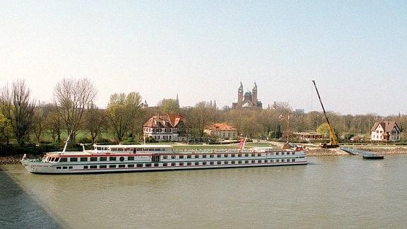 Speyer am Rhein mit Dom.