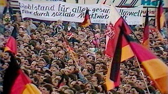 """""""Die Einheit wird kommen"""" –  Wahlkampf in Erfurt 1990"""