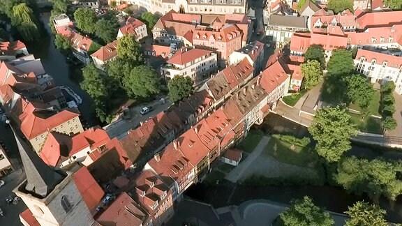 Die Krämerbrücke von oben