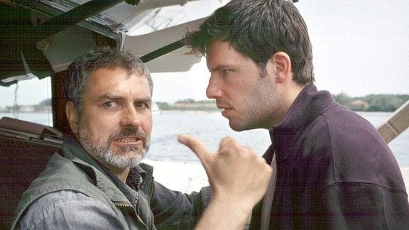 Vittorio Spadini (Hansa Czypionka) und Carlo Targhetta (Tim Bergmann, re.) geraten heftig in Streit.