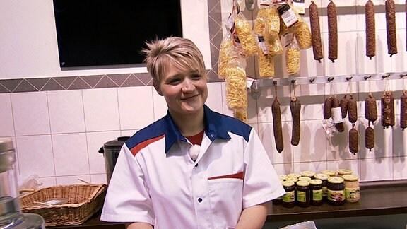 Susann Bergmann im Laden