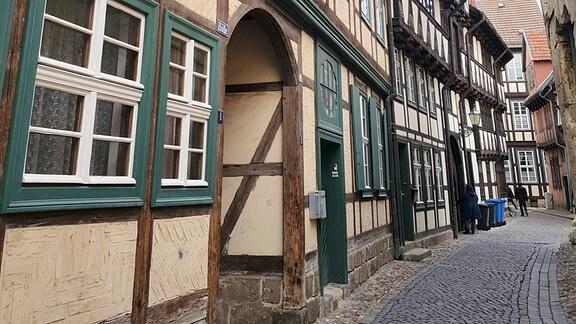 Blick in die Hölle. So heißt diese Gasse in Quedlinburg.