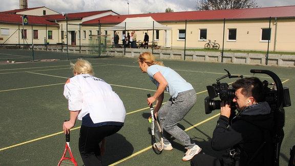 Auf dem tennisplatz in Hessen