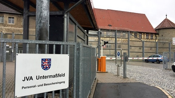 Eingang der JVA Untermaßfeld