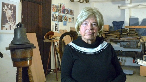 Margarete Schilling (87) aus Apolda, Frau des letzten Glockengießers Peter Schilling, ehemalige Glockensachverständige, vielfache Buchautorin über Glockengeschichte und Carillons
