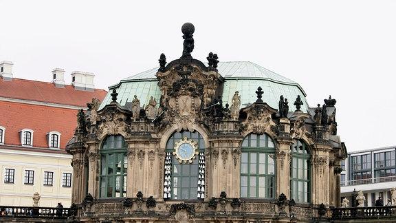 Detail des Dresdner Zwingers, Blick Richtung Süden