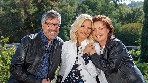 Uta Bresan mit Christian Lais und Ute Freudenberg