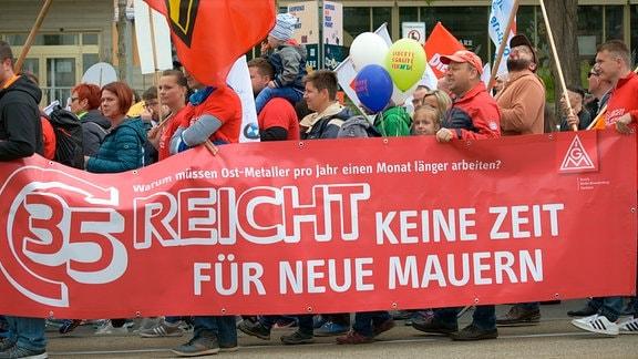 Kundgebung der Gewerkschaften am 01.Mai in Leipzig