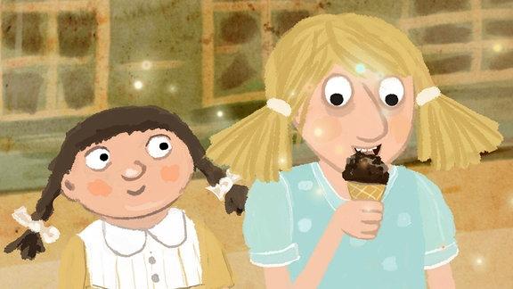 Eine geschmackliche Sensation (ein Eis), nicht nur für Kinder.