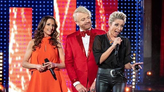 Ross Antony mit Anita und Alexandra Hofmann