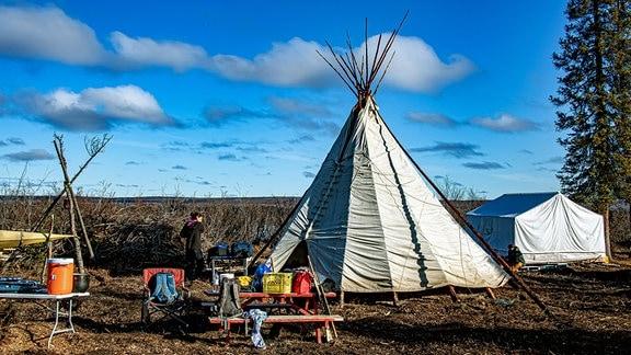 Bei den Inuvialuits First Nation im hohen Norden Kanadas.