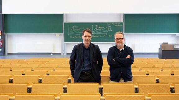 Die beiden Entwickler der Moral Choice Machine Prof. Constantin A. Rothkopf und Prof. Dr. Kristian Kersting der TU Darmstadt