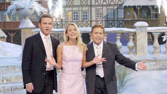Stefan Mross, Stefanie Hertel, Eberhard Hertel. (2003, von links)