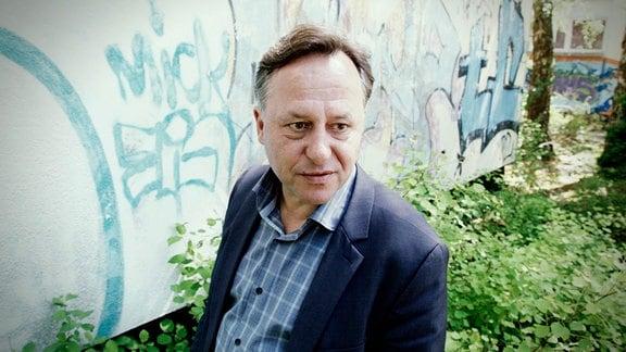 Tatort Schule: Hier schrieb Christian Ahnsehl 1985 eine Parole an die Wand.