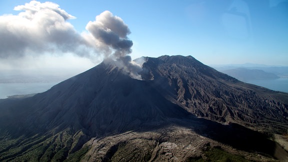 Der Vulkan Sakurajima