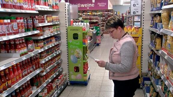 Das Überangebot im Supermarkt überfordert Grit Wagner.