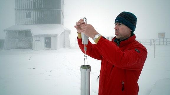 Klaus Adler, Stationsleiter der Wetterwarte Brocken. Er verlässt seinen Posten 2020.