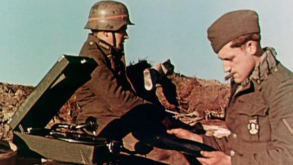 Gefechtspause, Oderfront, April 1945 - Deutschland, Hohenwutzen