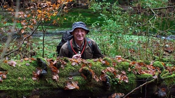 Ranger Frank Strohbach in der Wolfsschlucht