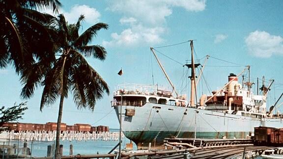 Ein Bild des kubanischen Hafen Sagua le Grande.