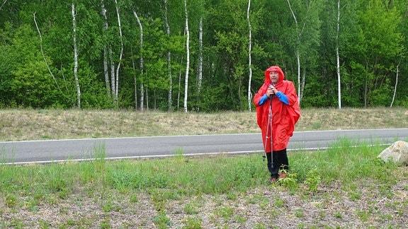 Thomas bei Böttcher wandert  bei Wind und Wetter