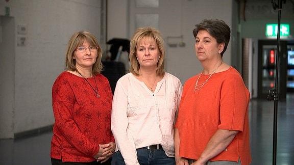 Drei Mütter, die ihre Kinder durch tragische Ereignisse verloren (v. l.): Susanne H., Britta M. und Vaja M.
