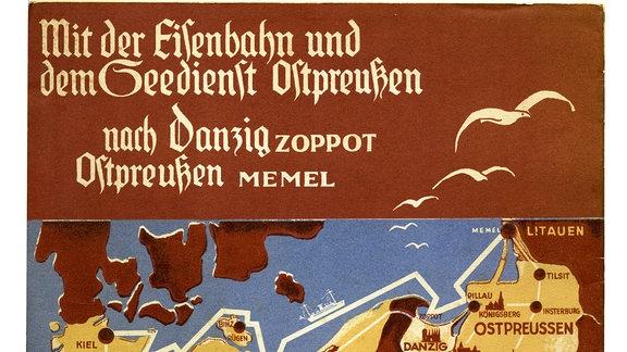 Mit der Eisenbahn und dem Seedienst Ostpreußen nach Danzig.