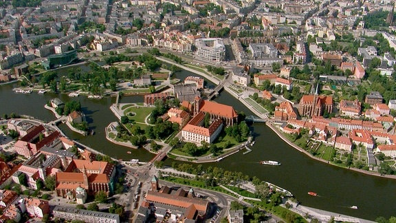 Breslau aus der Vogelperspektive