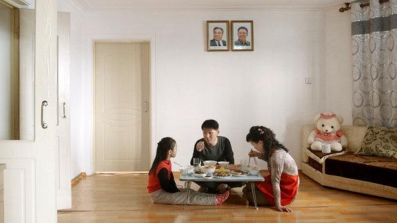 Essen einer nordkoreanischen Familie