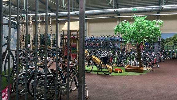 Von den Einbrechern, die im April 2018 in einem Magdeburger Fahrradgeschäft 15 teure E-Bikes gestohlen haben, wurde diese schwere Gittertür und eine weitere Tür aufgebrochen, um in den Verkaufsraum zu gelangen.