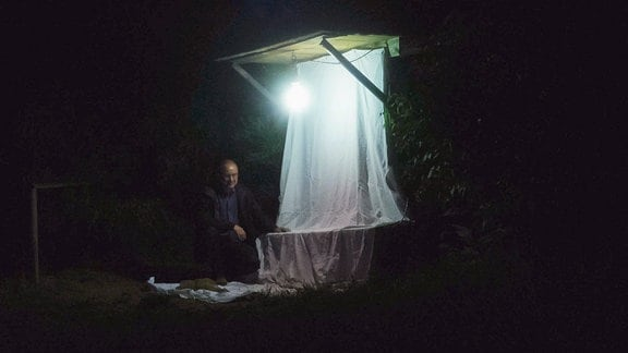 Vorbereitung zum Lichtfang, Sven Erlacher