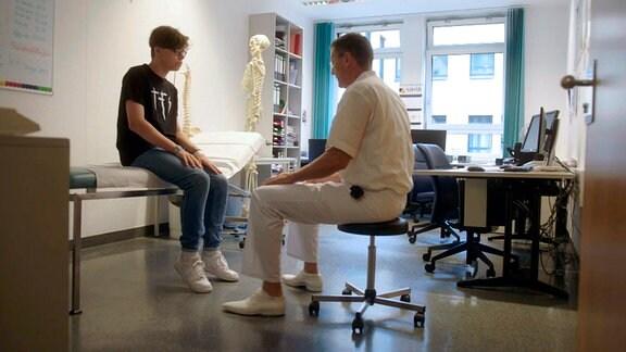 Eriks Behandlung in der Bergmannstrostklinik Halle