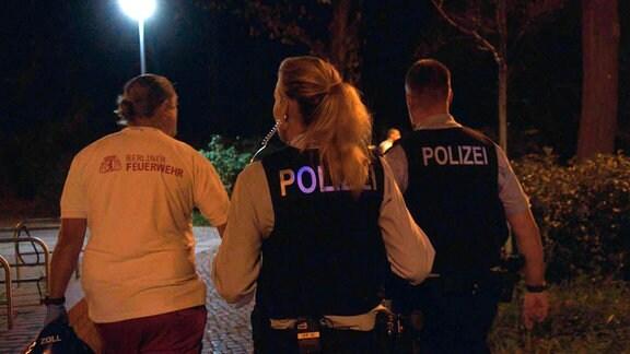 Bundespolizei Berlin auf Nachtstreife