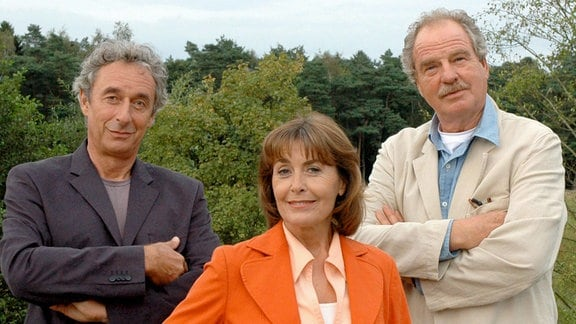 Ein ungleiches Trio: Elisa (Thekla Carola Wied), ihr arbeitswütiger Gatte Ludwig (Friedrich von Thun, re.) und ihr charmanter Liebhaber Carlo (Jürg Löw).