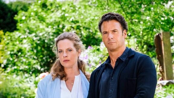 Rufus (Stephan Luca) hat jetzt eine größere Familie mit Ehefrau Toni (Diana Amft, li.), Schwiegermutter Heidi (Margarita Broich) und Tochter Mia (Linda Stockfleth).