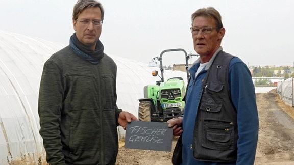 Die Brüder Lars( links) und Hubert Fischer. Die beiden sind in der 5.Generation Gärtner.