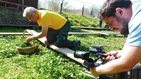 """Dreharbeiten für den MDR Film """"Fette Böden, reiche Ernte"""" bei Ralf Fischer"""
