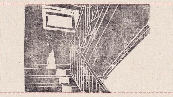 Grafik eines Treppenhauses.