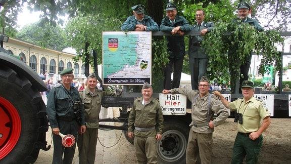 Der Wagen des Grenzerkreis Abbenrode ist 2018 ein Teil des Festumzugs in Bad Harzburg.