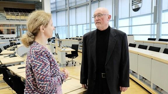 Filmautorin Katja Herr spricht mit Gerd Gies – CDU-(1990 erster Ministerpräsident von Sachsen-Anhalt)