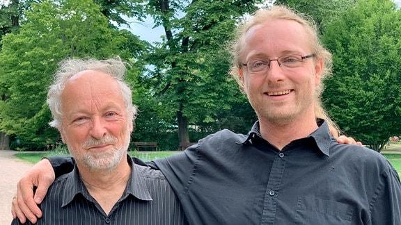 Martin Böttger (li.) mit seinem Sohn Daniel