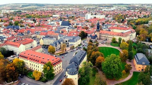 In Weimar kamen die Vertreter der sieben Thüringer Staaten 1919 zusammen und bereiteten die Gründung des Landes Thüringen vor.