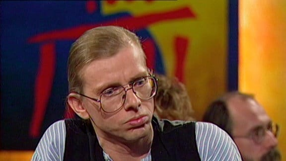 Gerhard Gundermann in einer Talkshow 1990