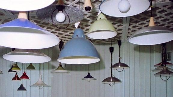 Design-Leuchten des VEB Metalldrücker