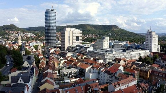 Blick auf die Innenstadt von Jena