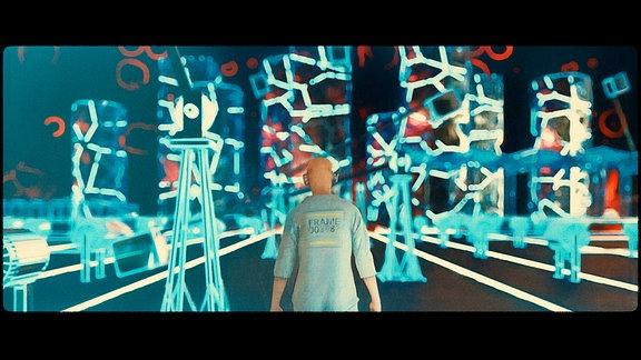 Frame lebt in einer dystopischen Gesellschaft in der Zukunft.