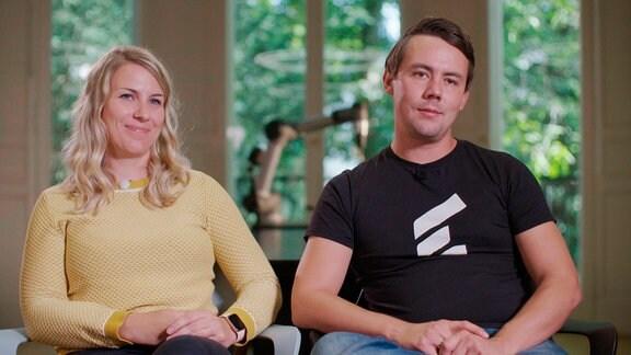 Maria und Christian Piechnick, zwei der Gründer des Dresdner Startups WANDELBOTS.