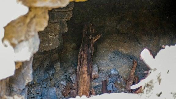 Ausgrabungen im ehemaligen Steinbruch des Konzentrationslagers Buchenwald bei Weimar.
